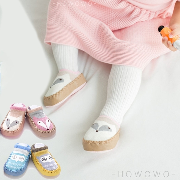 寶寶襪 KACAKID 皮底防滑地板襪 襪鞋 學步鞋 嬰兒襪 (11-13CM) CA1257 好娃娃