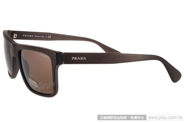 PRADA太陽眼鏡 PR01S TV64S0 (咖啡) 歐美時方框款 # 金橘眼鏡