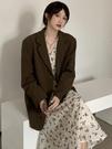 西裝外套 復古網紅小西裝外套女2020年秋季新款韓版寬松氣質中長款西服上衣 风尚3C