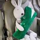 汽車護肩 汽車安全帶兒童護肩套頭枕創意車內舒適護頸靠枕寶寶車載睡覺【快速出貨八折特惠】