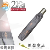 雨傘陽傘~萊登傘~抗UV 防曬輕量自動傘自動開合銀膠Leotern 星光舞者銀灰