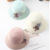 兒童帽 彩色 花朵 拼接 漁夫帽 遮陽 草帽-兒童【JTM0036】 icoca  04/12