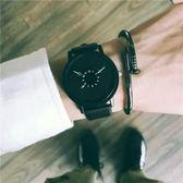 個性概念手錶男中學生韓版簡約休閒復古潮流創意女錶