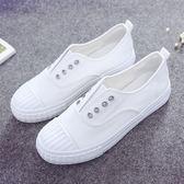 韓版ulzzang帆布一腳蹬套腳懶人exo帆布鞋板鞋