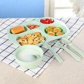 分格餐盤兒童學生早餐碟子寶寶盤子碗幼兒園分隔餐具新款【元氣少女】