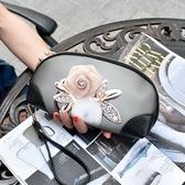 手拿包 韓版彩繪女手拿包大容量手包涂鴉手抓包韓版印花手機貝殼小 果果生活館
