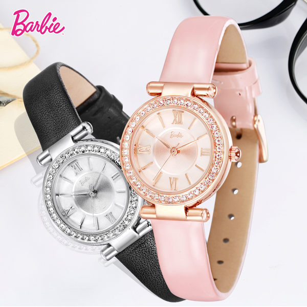 芭比典雅系列 復古雅致精品小牛皮女錶 W50570L