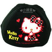 〔小禮堂〕Hello Kitty 安全帽內襯《黑》防塵衛生避免異味  4713902-07334
