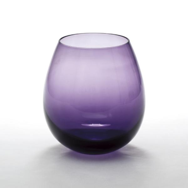 日本 廣田硝子 花蕾 karai江戸硝子 300ml(夕暮紫)