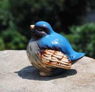 別墅園藝裝飾陶瓷工藝品 花園用品擺設 蘭小鳥