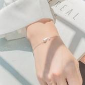s925純銀小鯨魚吊墜手鍊女氣質韓版個性簡約森系學生手鐲閨蜜手飾