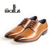 Waltz-紳士雕花沖孔德比鞋212145-06(棕)