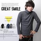 【N7245J】日韓優質型男單品全羅紋素面棉料彈性高領上衣(JX0842)