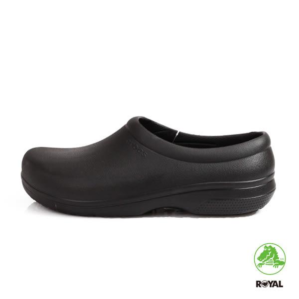 CROCS 卡駱馳 新竹皇家 黑色 輕量 舒適鞋墊 工作鞋 男女款 NO.A9902