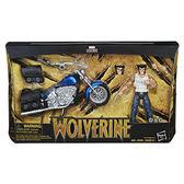 《 MARVEL 》漫威超級英雄 - 電影6吋人物跟載具組 - X戰警 金鋼狼 + 機車套組 ╭★ JOYBUS玩具百貨