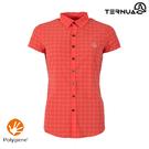 TERNUA 女Shellstretch短袖格紋襯衫1481163 AF / 城市綠洲(輕量透氣、彈性快乾、防異味)