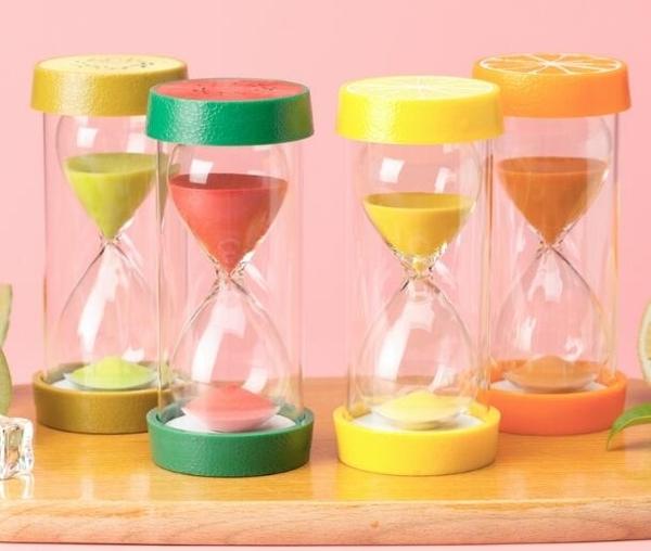 水果沙漏計時器兒童30分鐘防摔吃飯玩具