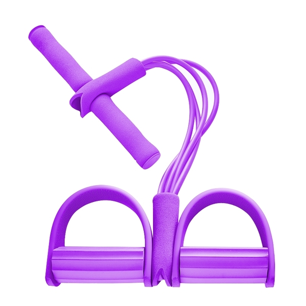 Qmishop 運動4管腳踏拉力器【H040】