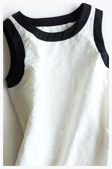 [超豐國際]Z   立體提花 無袖短款連衣裙 F704K26
