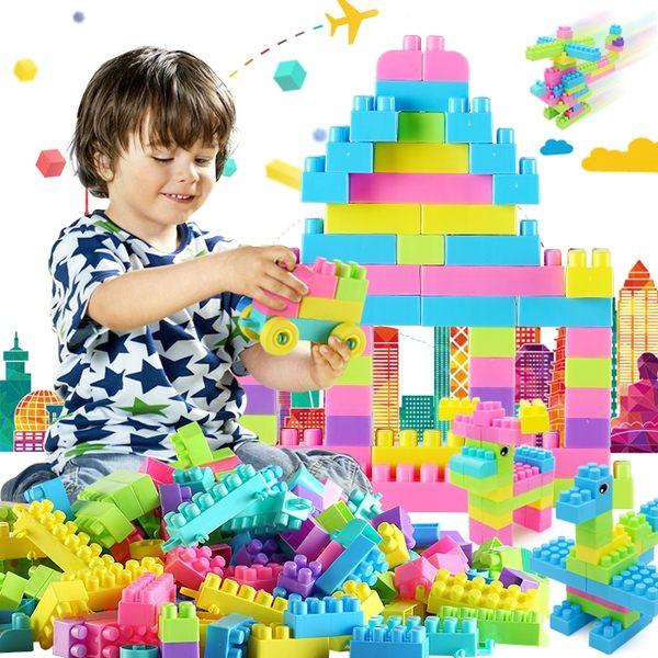 兒童積木塑料玩具1-2歲益智力男孩7-8-10女孩寶寶拼裝拼插3-6周歲   任選一件享八折
