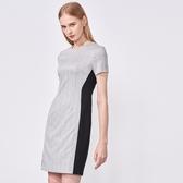 SST&C 女裝 淺灰圓領拼接洋裝 | 8562009009