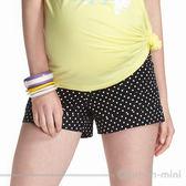 【ohoh-mini孕婦裝】超Q點點反摺孕婦短褲