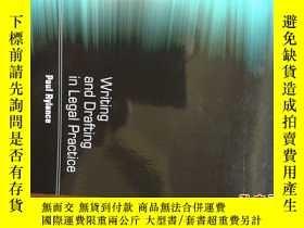 二手書博民逛書店Writing罕見and drafting in legal p