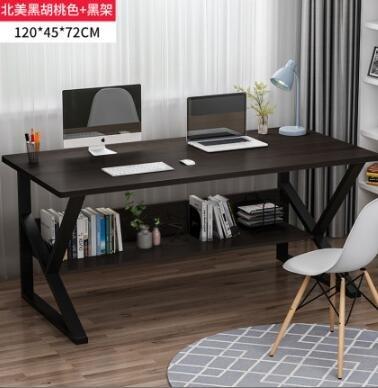辦公桌家用書桌臺式雙人電腦桌學生學習桌簡易寫字桌臥室桌子TW 【七七小鋪】