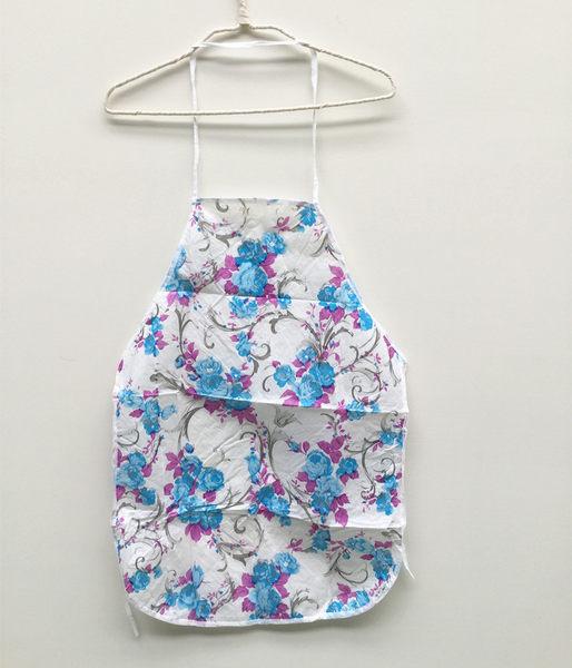 [韓風童品] 時尚清新 一次性防水防油成人圍裙 拋棄式圍裙 露營 戶外BBQ 輕便式印花圍裙
