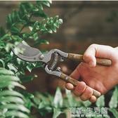 水曲柳木柄修枝剪花藝園林果樹修剪樹枝修花剪刀省力家用園藝工具 有緣生活館