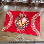 婚慶用品婚房佈置新房裝飾結婚地墊防滑腳墊喜字喜慶進門紅地毯
