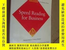 二手書博民逛書店英文原版罕見Speed Reading for Business