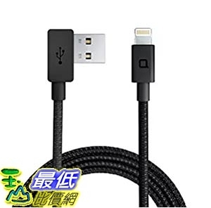[美國直購] nonda LC22BKRN USB線 充電線 傳輸線 ZUS Super Duty Lightning Cable線 [4ft/1.2m, 90-degree]