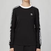 Adidas Originals 女款 黑色 經典 三條線 長袖 上衣 DV2608