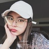 新品眼鏡框眼鏡框方形金屬框太陽鏡男女原宿圓臉眼鏡架