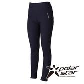 PolarStar 女 針織彈性合身保暖褲 『黑藍』P15430