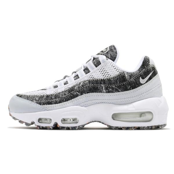 Nike 休閒鞋 Wmns Air Max 95 SE 環保再生 白 黑 灰 女鞋 氣墊 復古慢跑鞋 【ACS】 CV8830-400