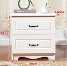 歐式臥室床頭櫃兩抽三抽簡約現代白色烤漆儲物收納床頭邊櫃60高櫃 小山好物
