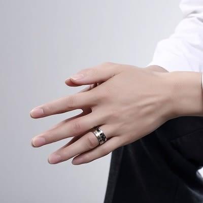 鈦鋼戒指 羅馬數字-時尚魅力知性百搭生日情人節禮物男飾品73le32【時尚巴黎】