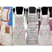 印花圍裙雙口袋圍裙蕾絲圍裙雙層內裡防水圍裙工作圍裙公主圍裙日式圍裙