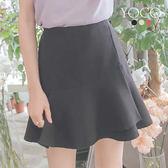 東京著衣【YOCO】女孩氣質多色不規則造型鬆緊褲裙-S.M.L(180736)