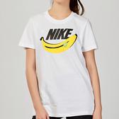 Nike AS W NSW TEE SSNL PRINT 1 女子 白色 香蕉 休閒 短袖 CK4376-100