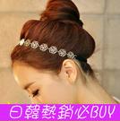 ►金屬玫瑰花鏤空盤髮髮帶 髮飾 頭飾 頭...
