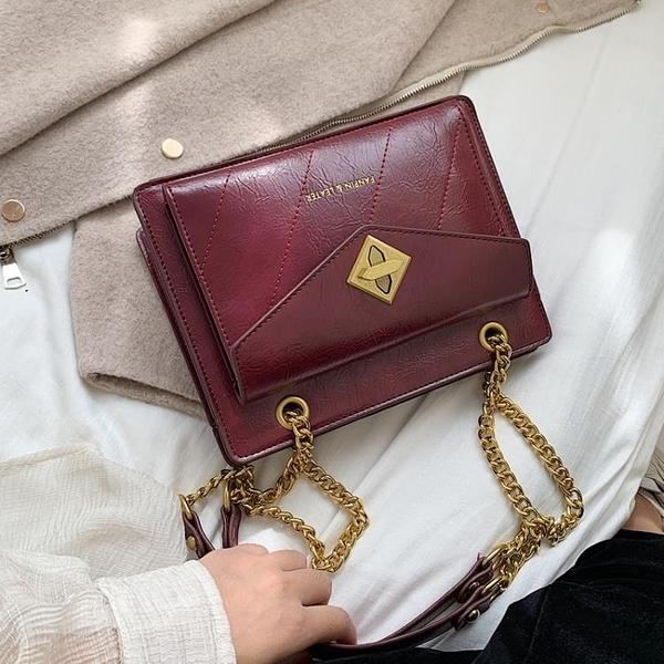 高級感包包洋氣女包2020新款潮韓版百搭斜挎包鏈條單肩時尚 【端午節特惠】