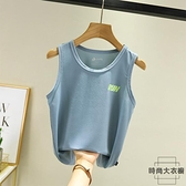 兒童寶寶冰絲網眼無袖吊帶男童速干背心夏季【時尚大衣櫥】