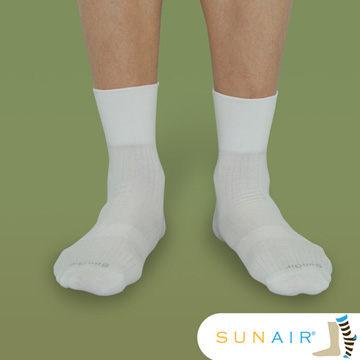 sunair 滅菌除臭襪子-寬口紳士襪款(無痕襪-白色) (L25~29) /SA2403