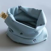 兒童圍脖男秋冬純棉女套頭圍巾寶寶兒童冬季防風保暖小孩可愛脖套