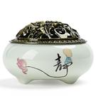 蚊香架 室內檀香爐熏香茶道香爐陶瓷家用大號純銅托盤蚊香爐去味盤香陶瓷