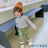 女童長袖T恤秋冬新款冬裝洋氣小女孩高領加絨打底衫兒童上衣 OO643【甜心小妮童裝】