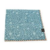 DAKS 純棉花草格紋大帕巾(淺藍色)